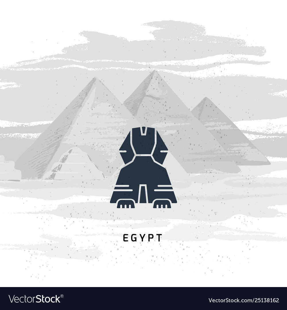 Icon great sphinx giza isolated on