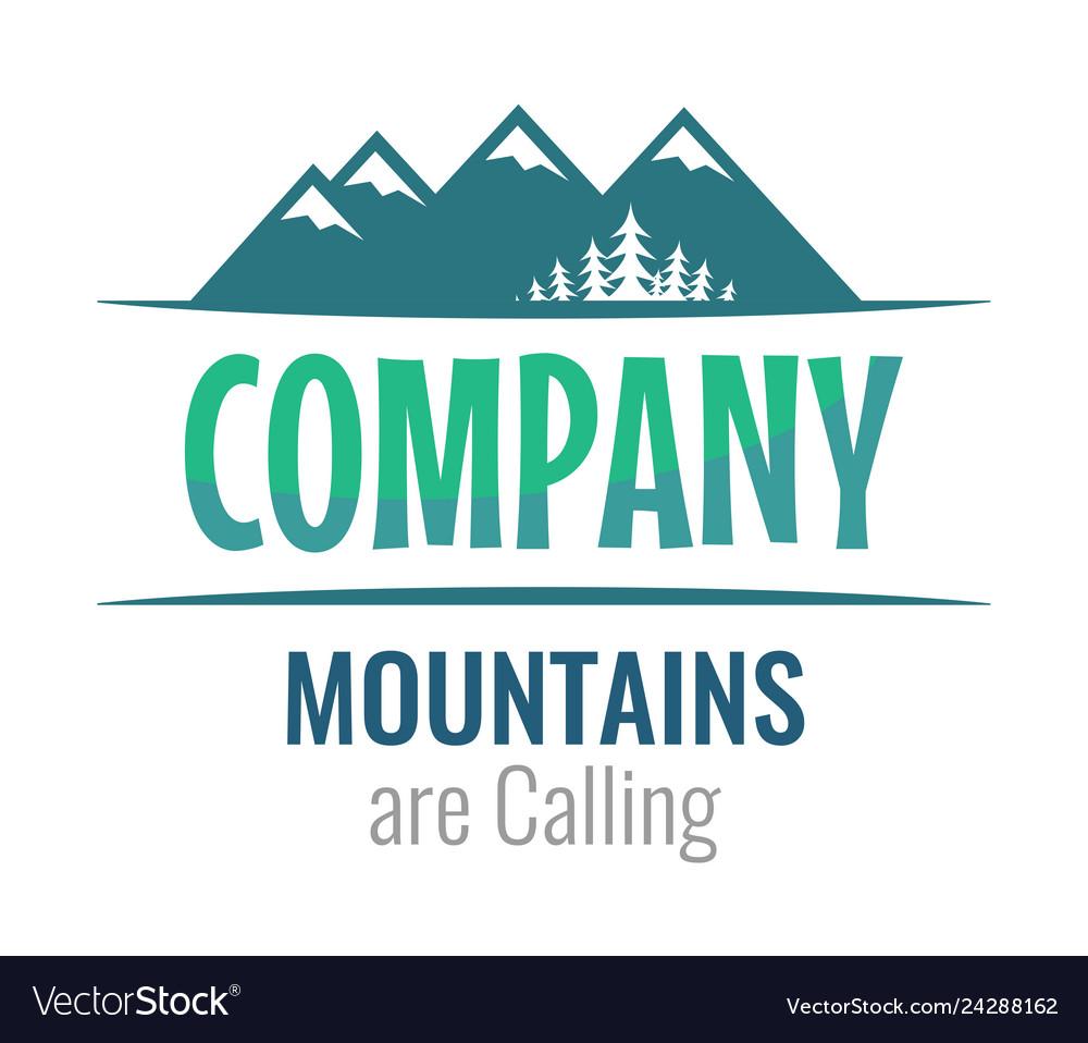 Mountains are calling - perceptible logo