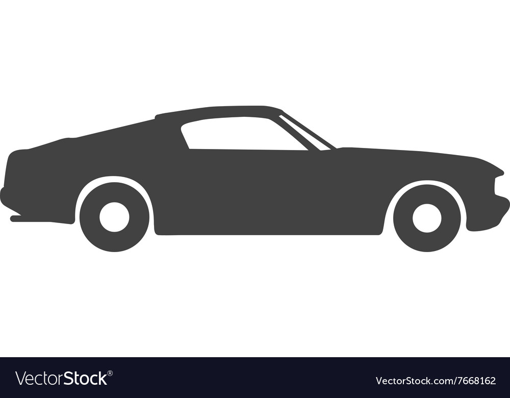 Old Vintage Classic Car Icon Royalty Free Vector Image
