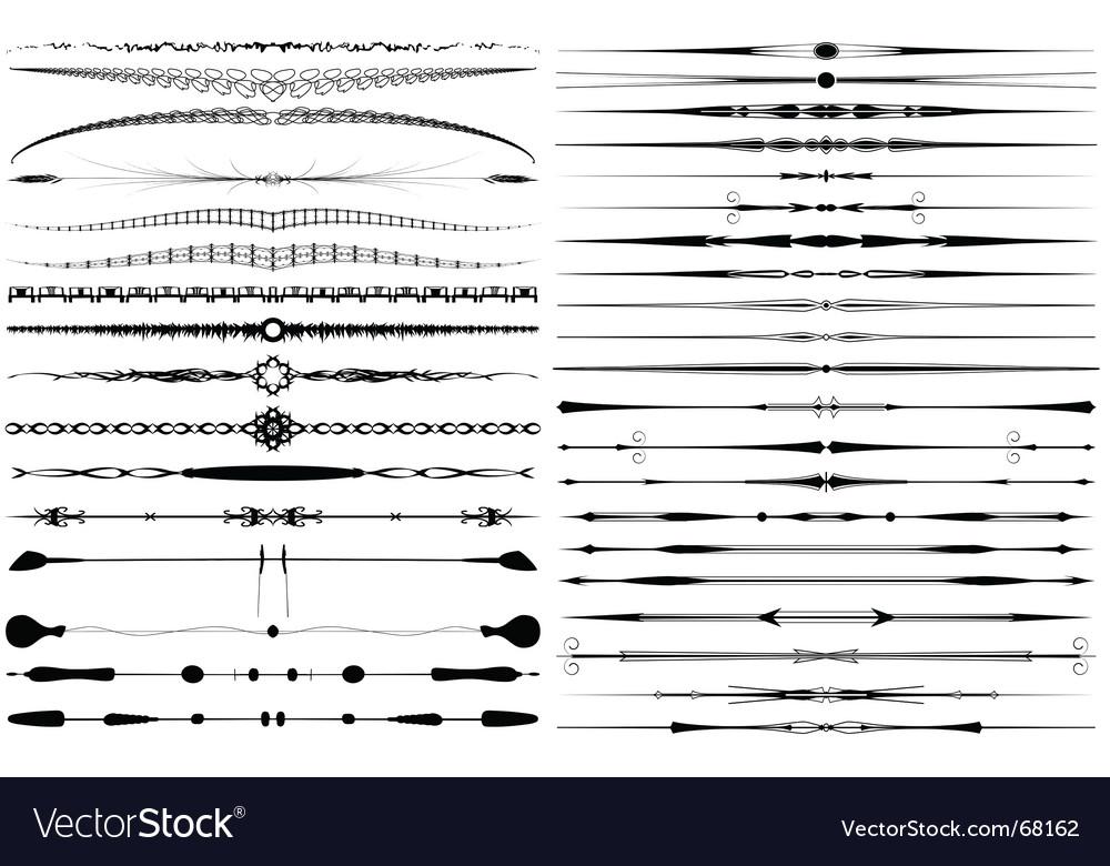 Text breaks vector image