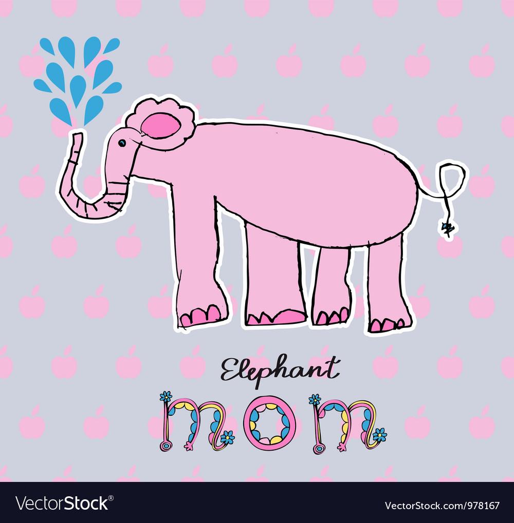 Abstract background children art elephant