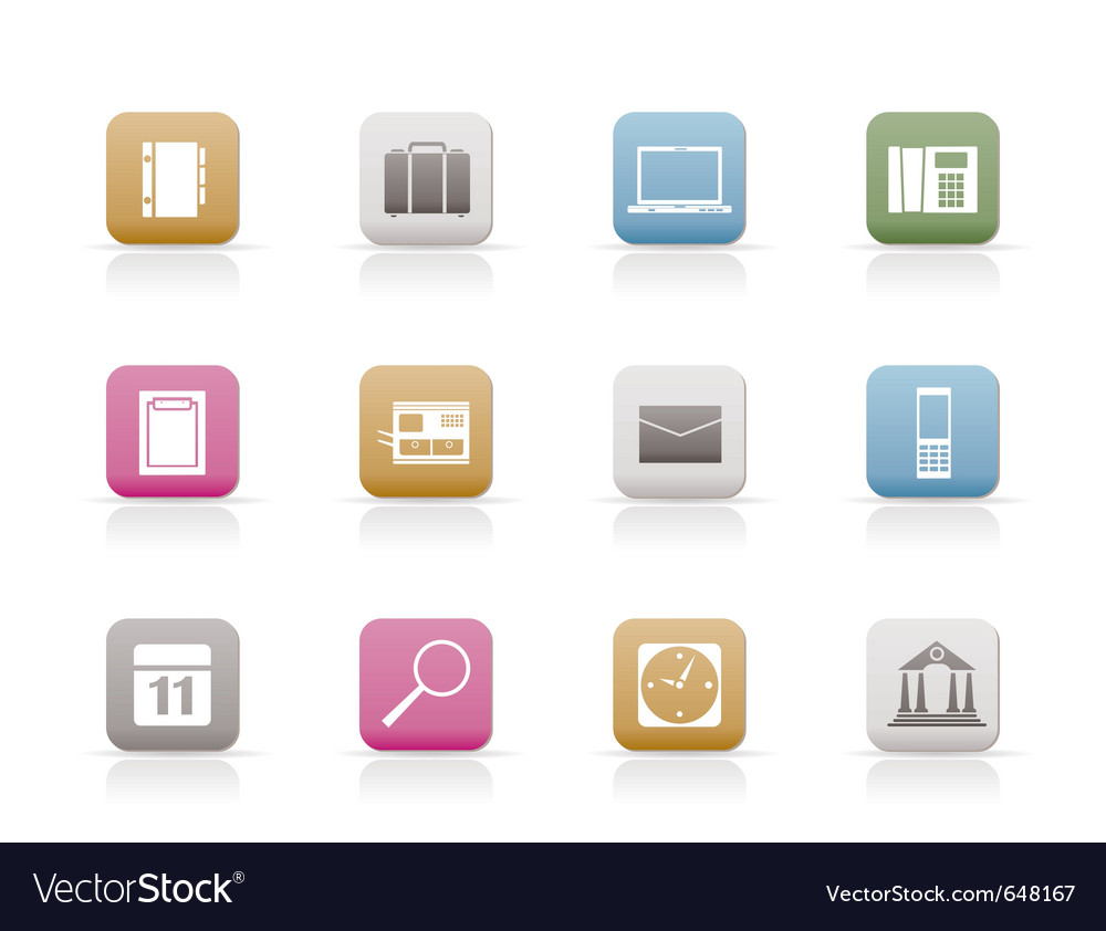 Business and mobile phone icons