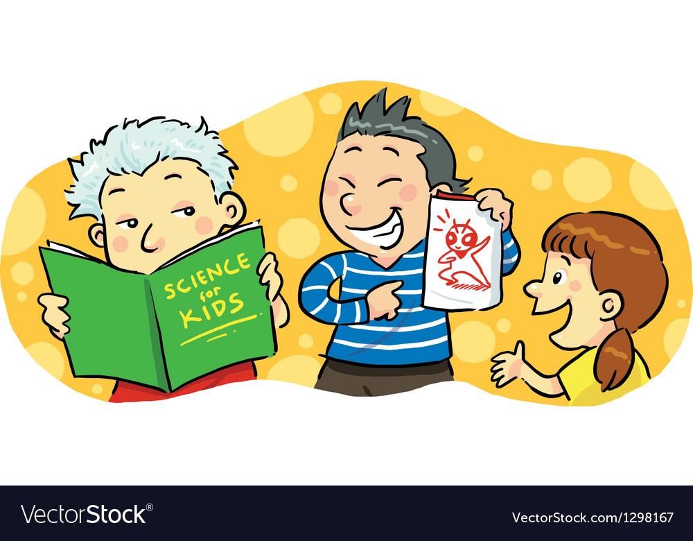 Children Study Group vector image