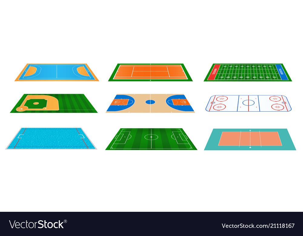Creative of sport game fields