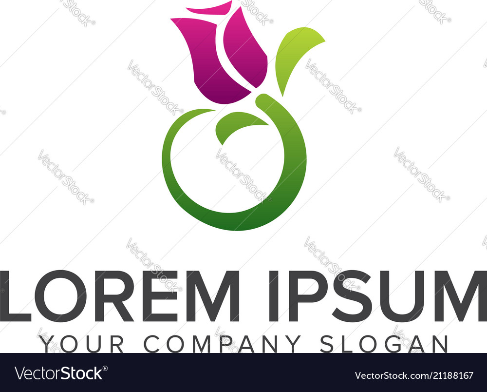 Jasmine flower logo design concept template vector