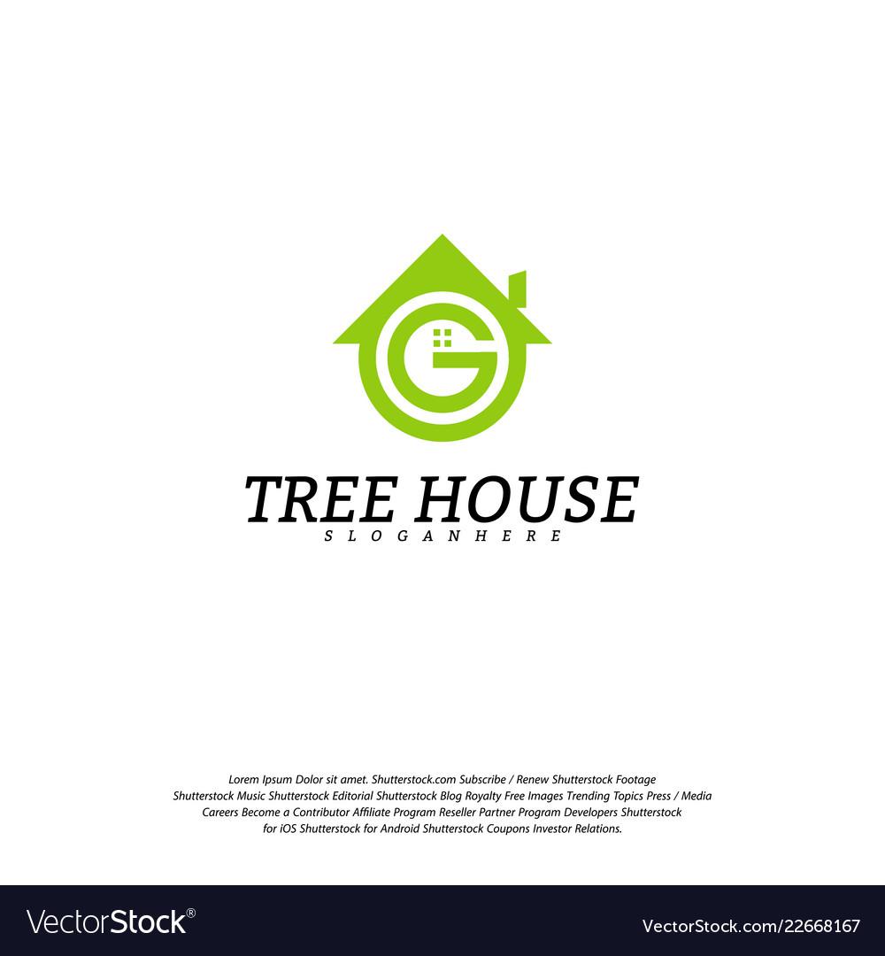 Letter g house logo template house logo