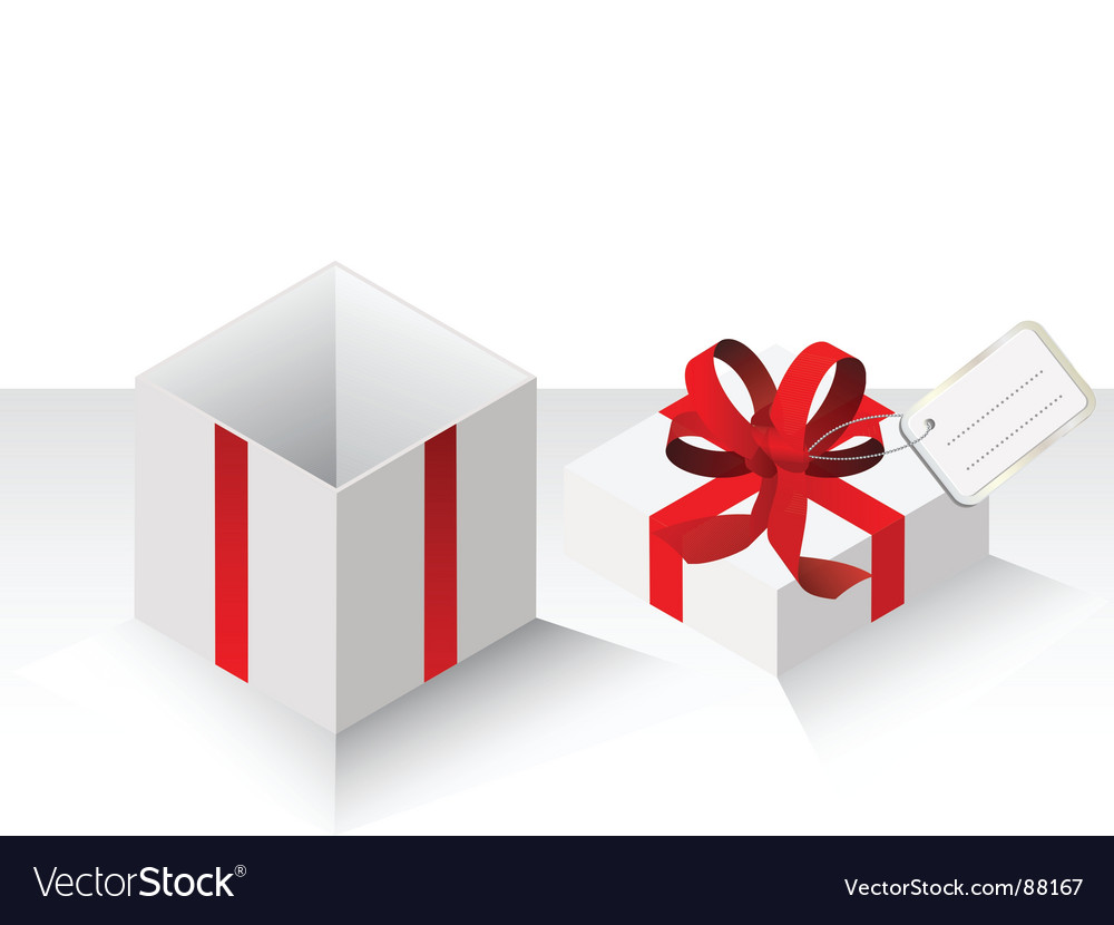 Present gift with red bow