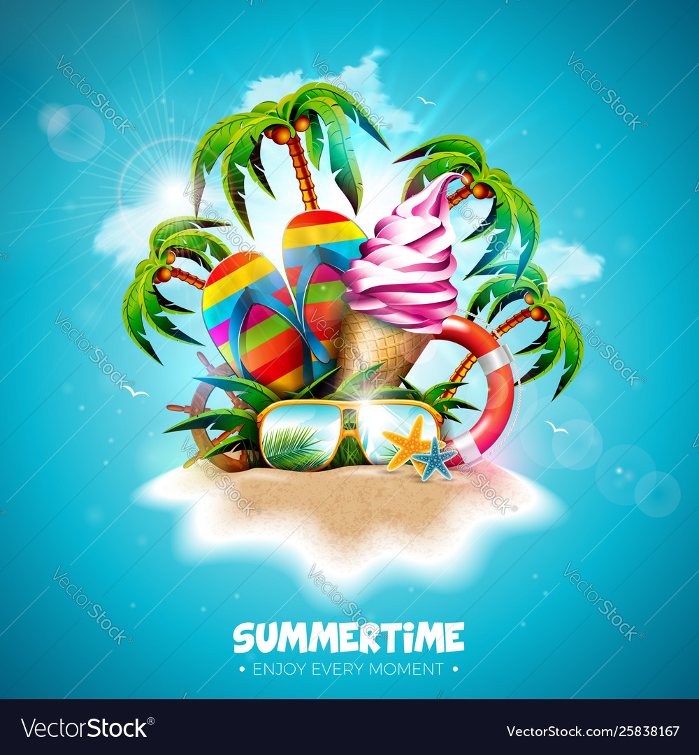 Summertime holiday with ice