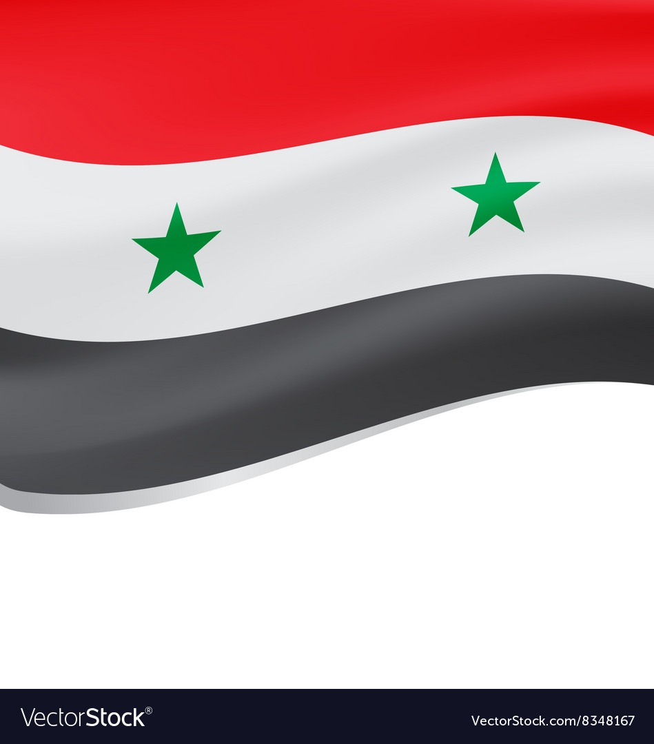 Waving flag of Syria isolated on white vector image