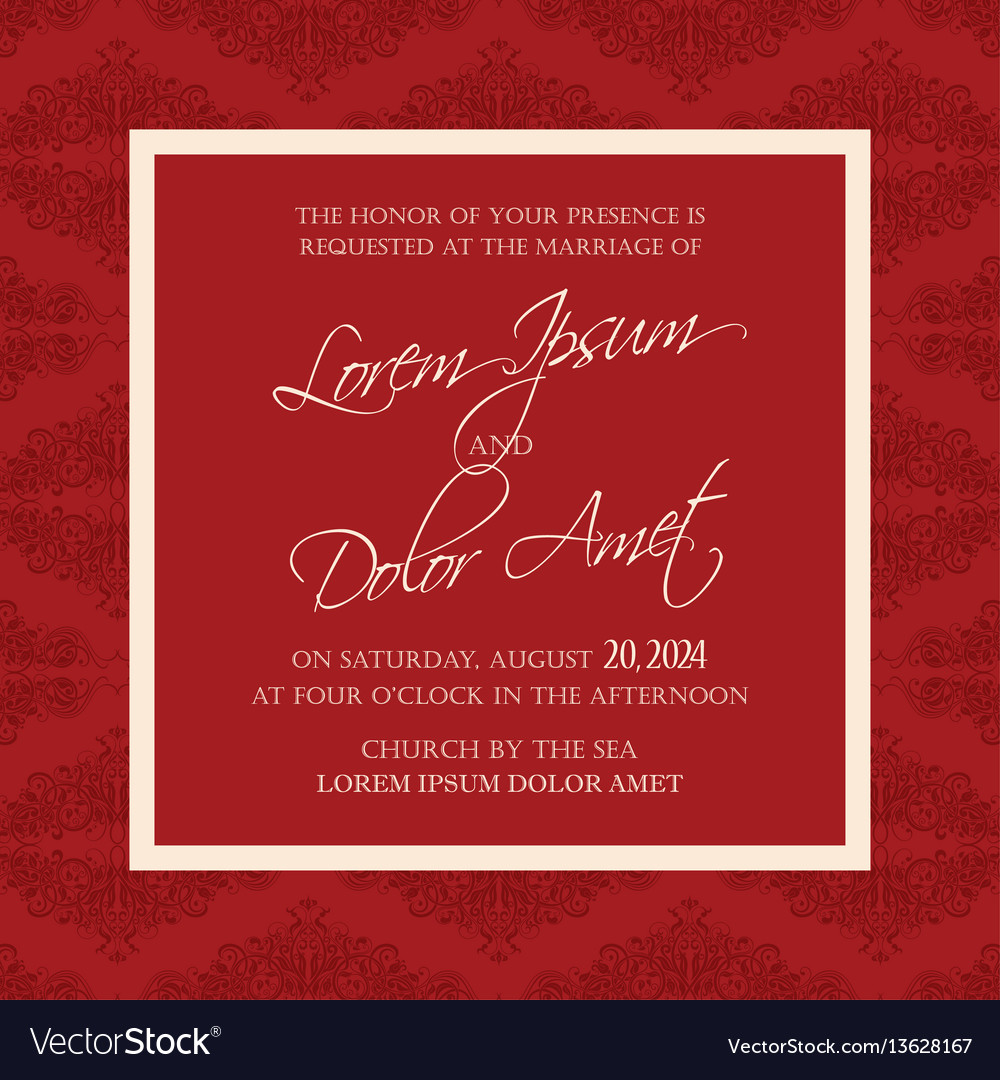 Wedding invitation floral background Royalty Free Vector
