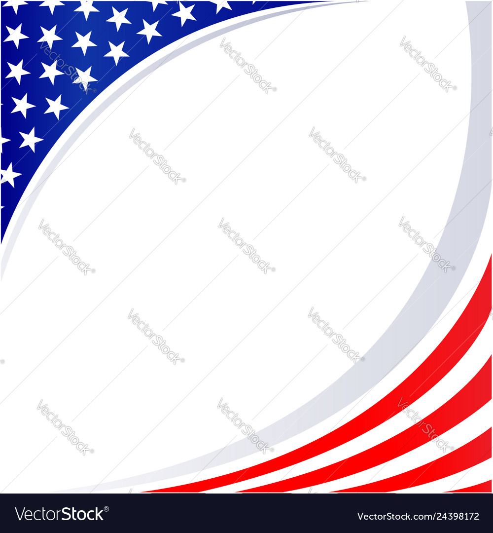 American abstract flag patriotic corner frame
