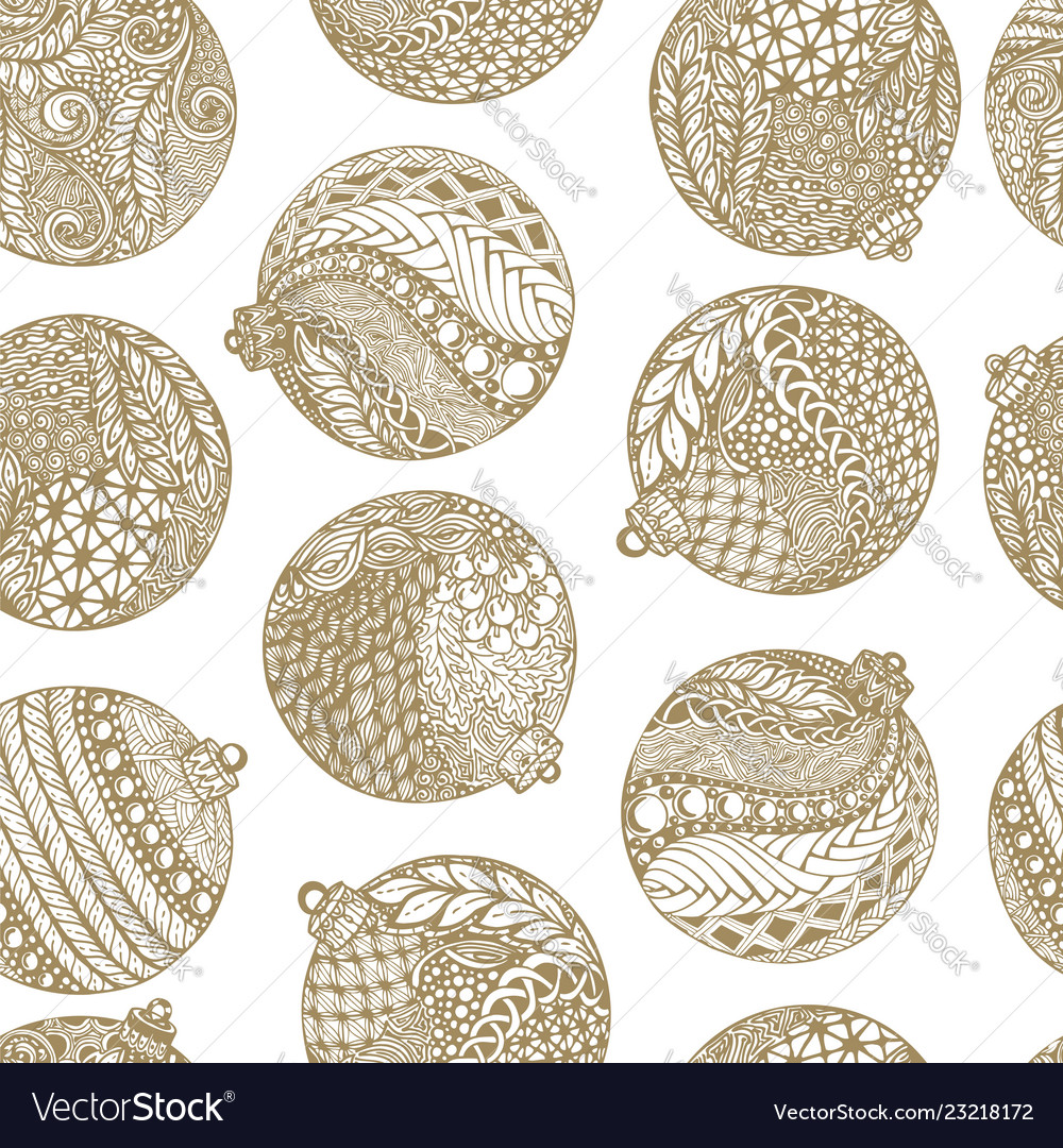 Beautiful monochrome white and gold pattern vector