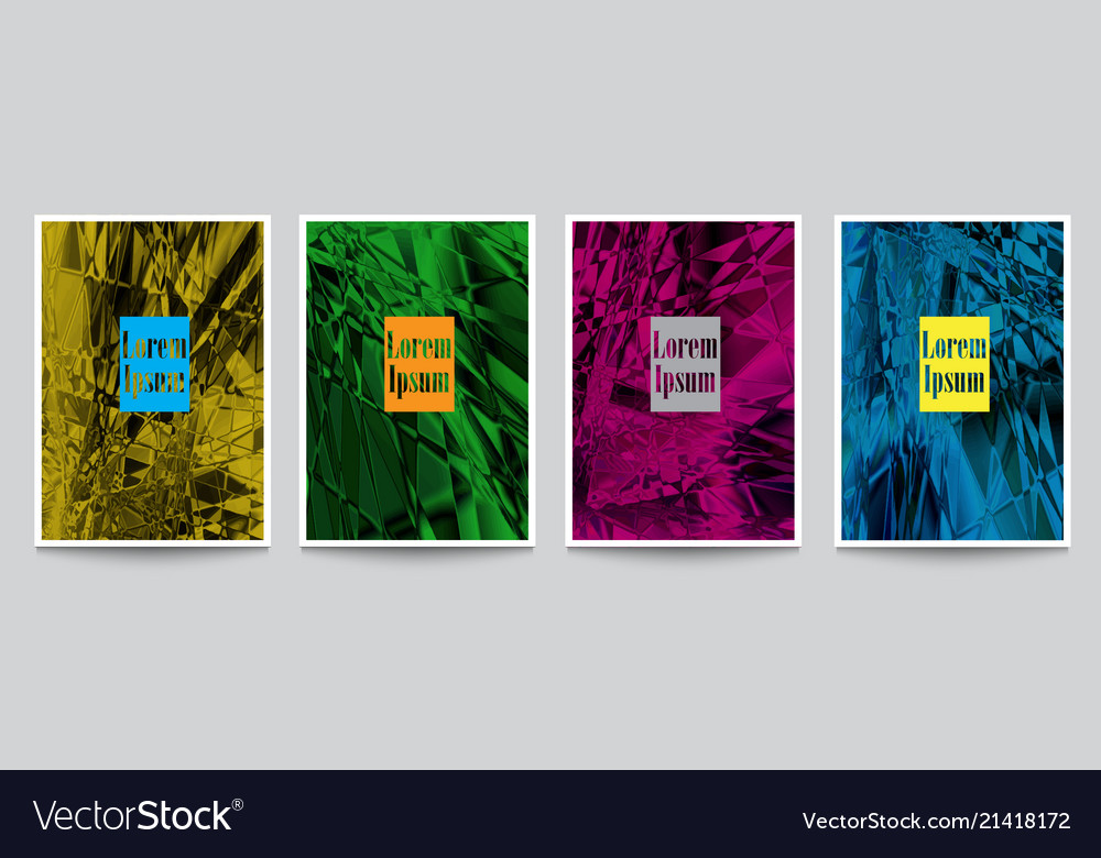 Bright artistic textured covers for design