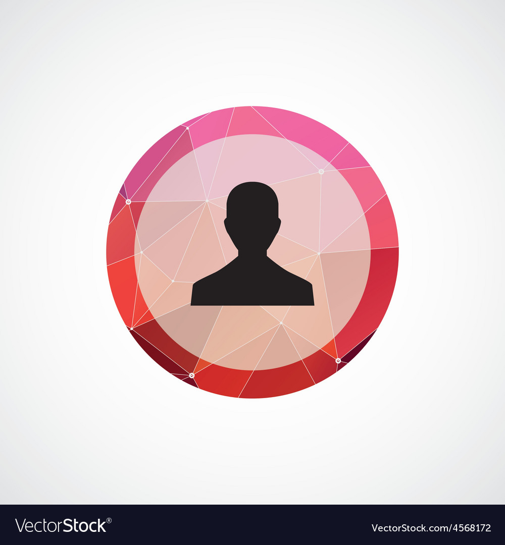 Profile circle pink triangle background icon