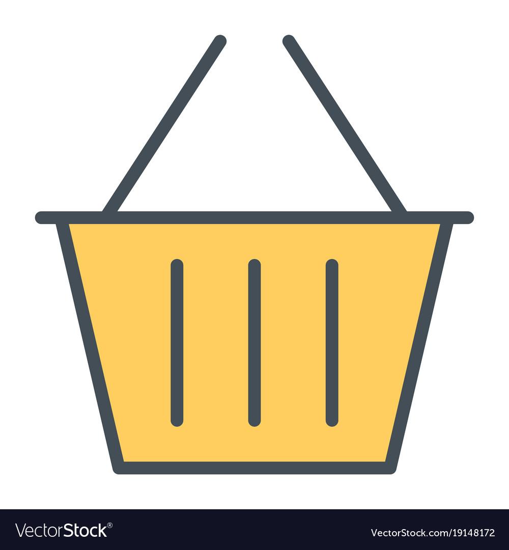 Shopping basket pixel perfect line icon 48x48