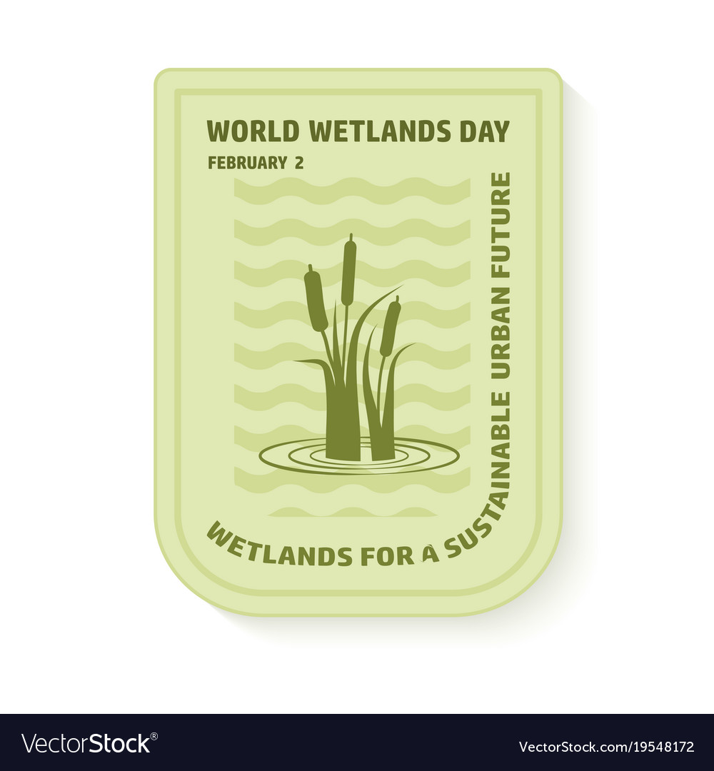 World wetlands day wave and reed