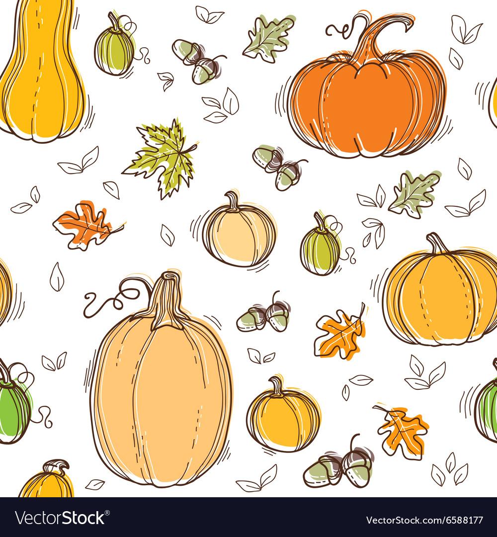 Autumn seamless pattern