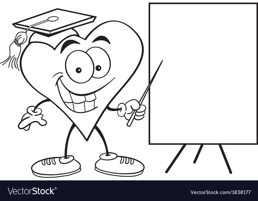 Cartoon Heart with Sign