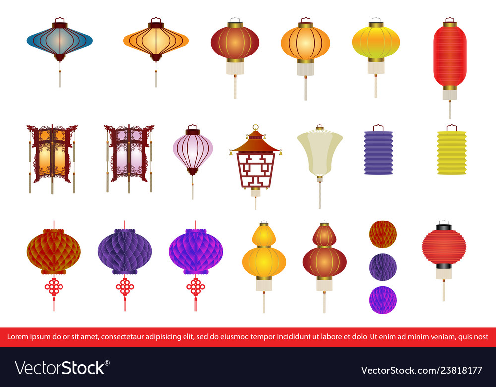 Chinese lantern collection set