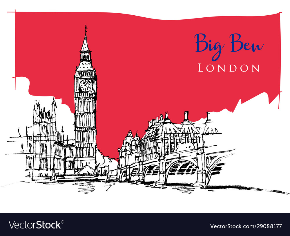 Drawing sketch big ben