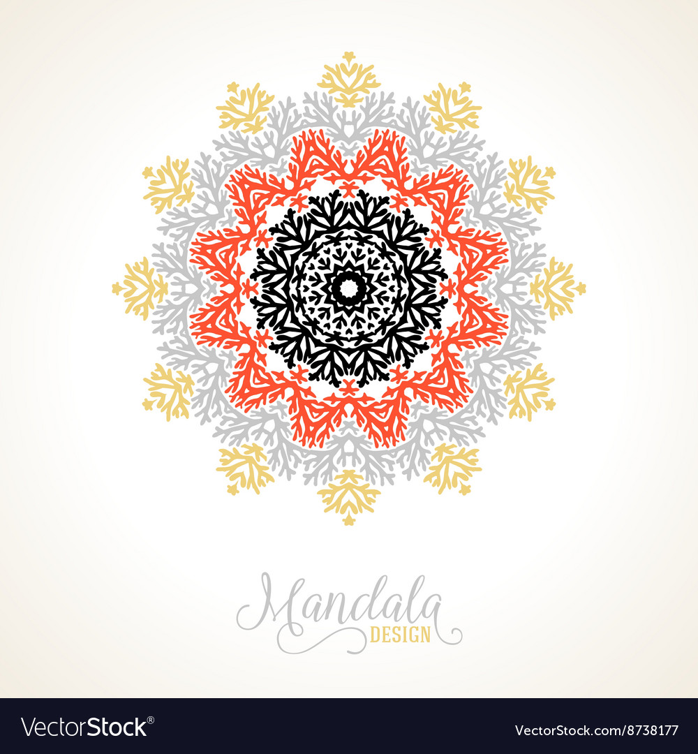 Madala round ornament