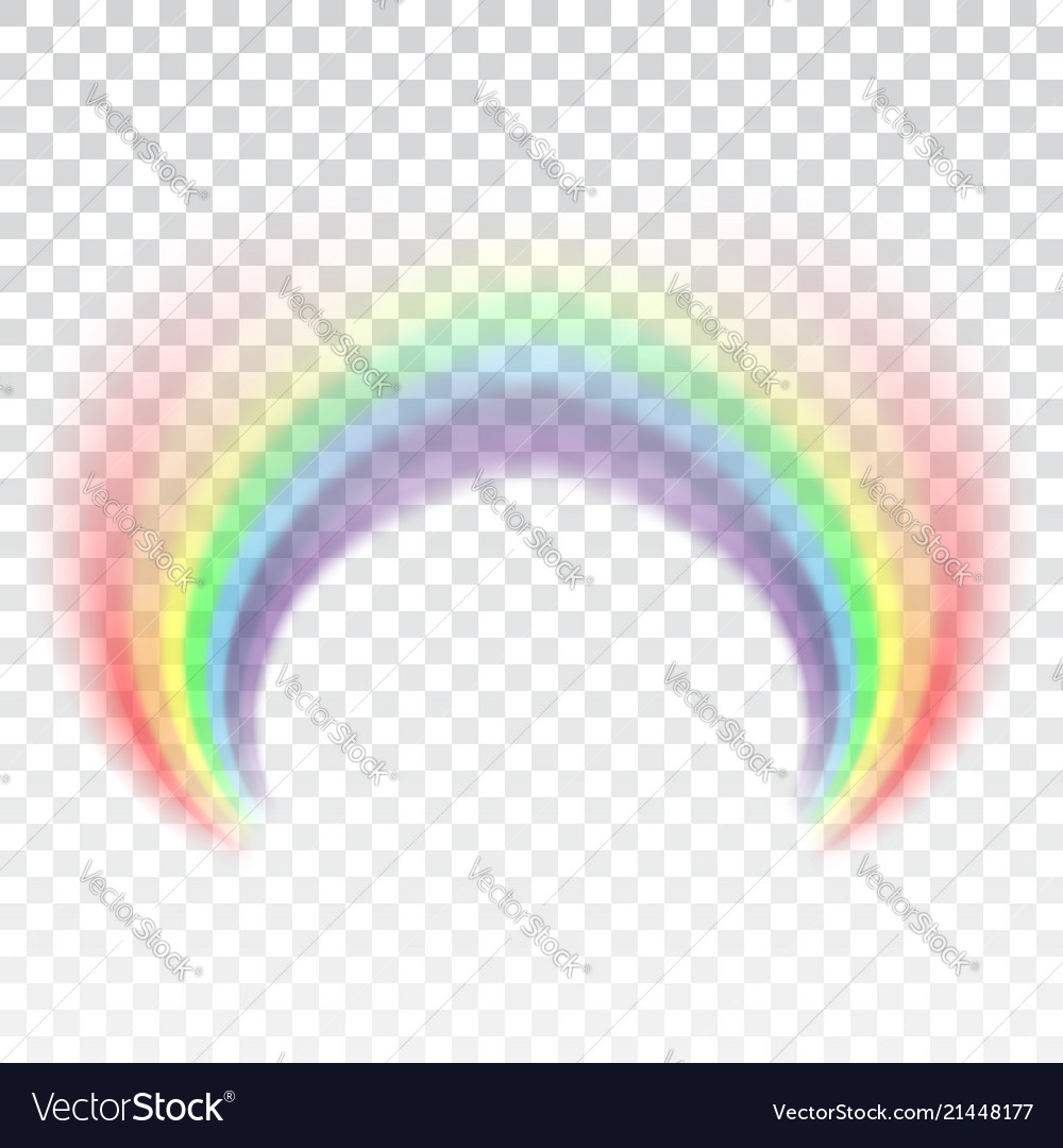 Rainbow icon shape arch realistic isolated on