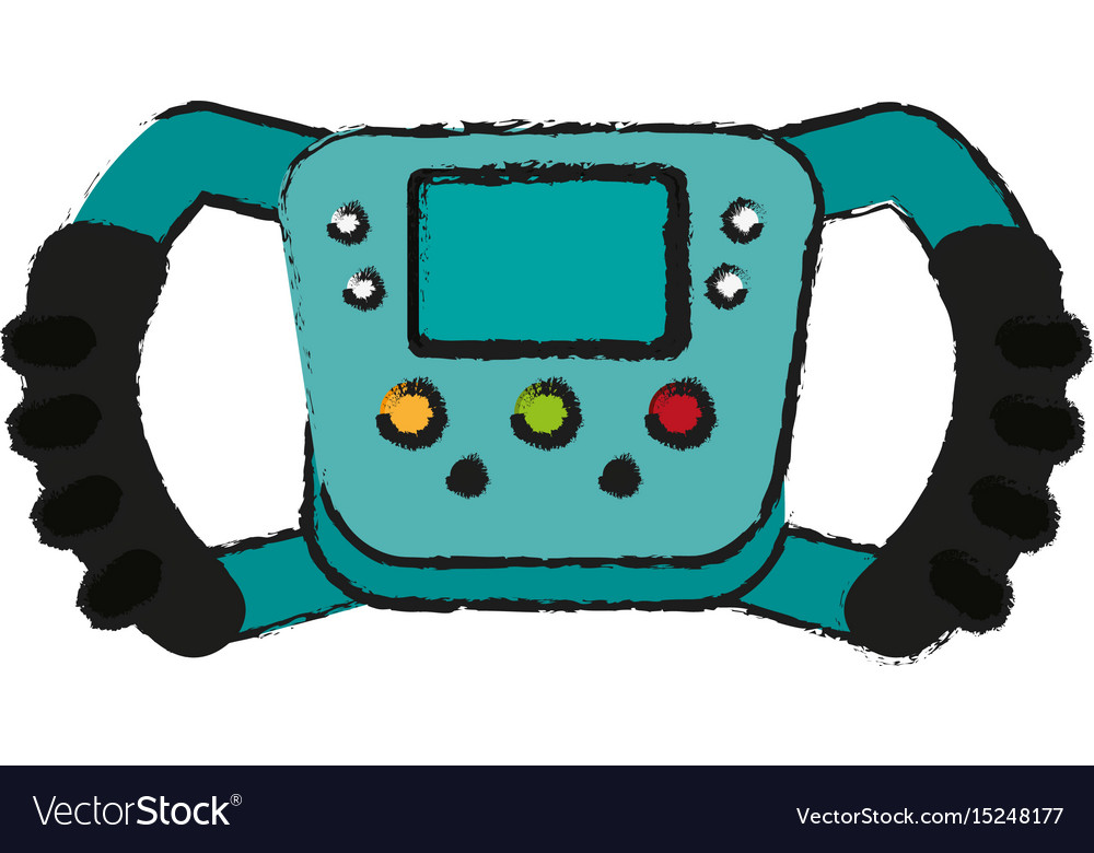 Steering wheel racer draw vector image