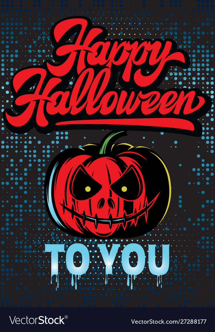 Stylish color party poster for happy halloween