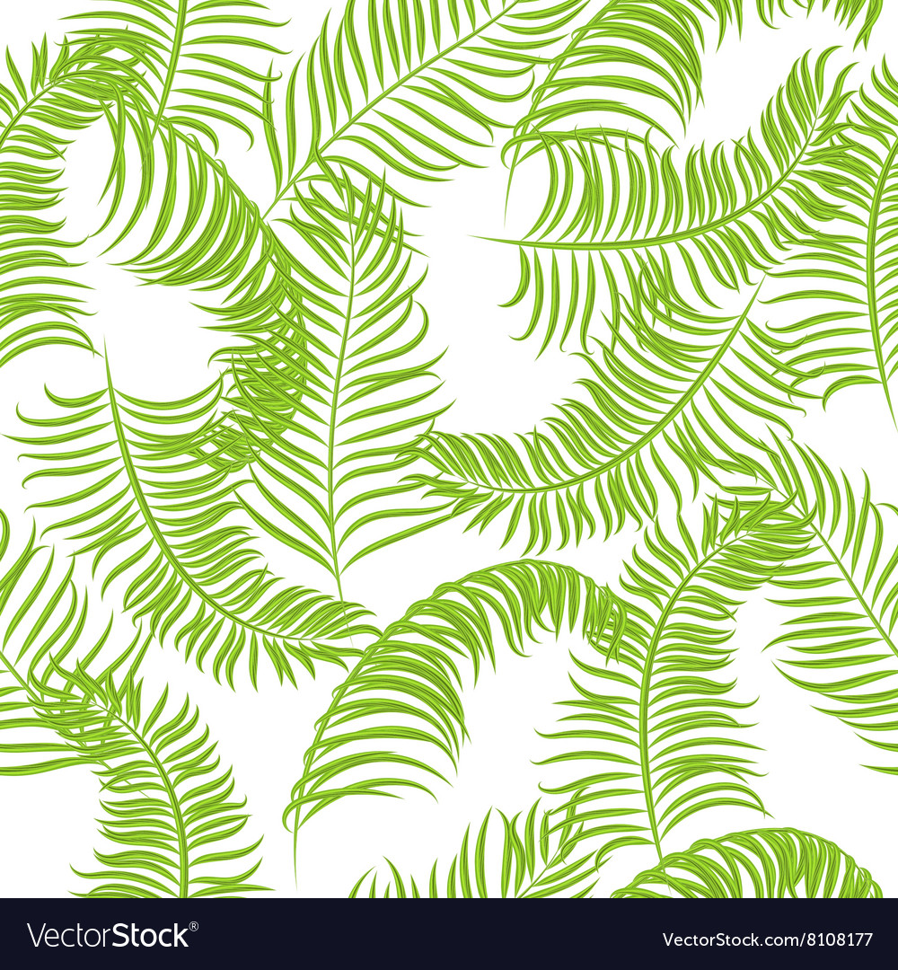 Tropical jungle palm leaves pattern