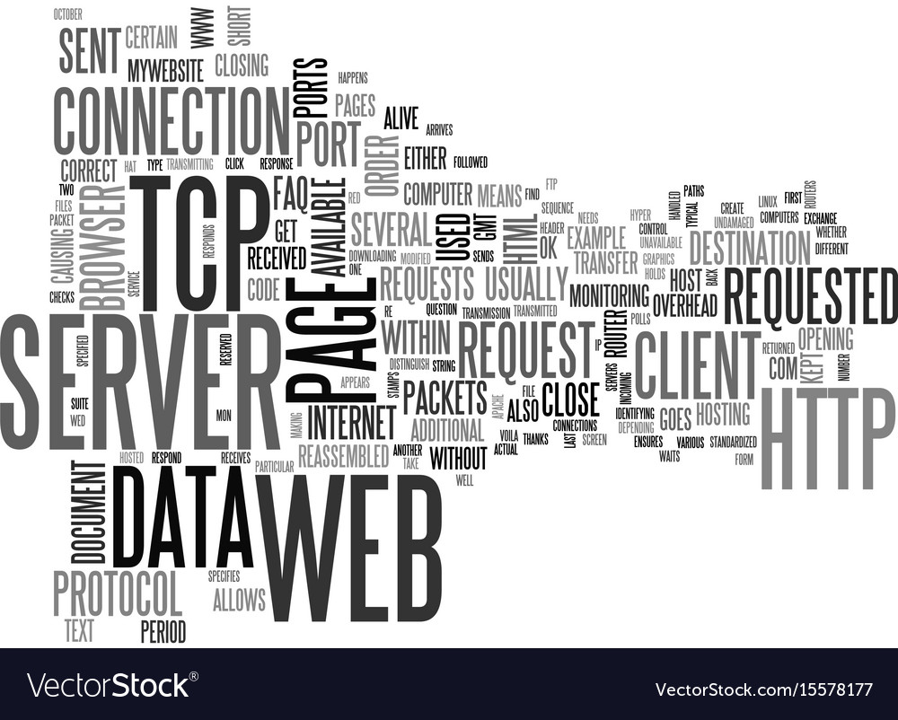 What happens from server to web browser text word vector image