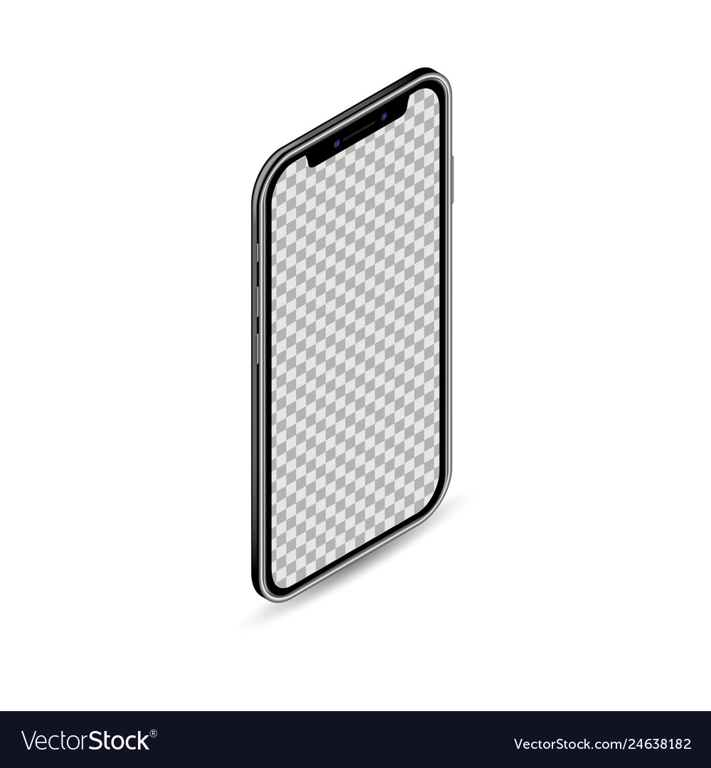 3d realistic isometric smartphone template mobile
