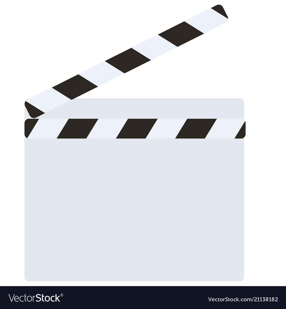 blank director clapboard royalty free vector image