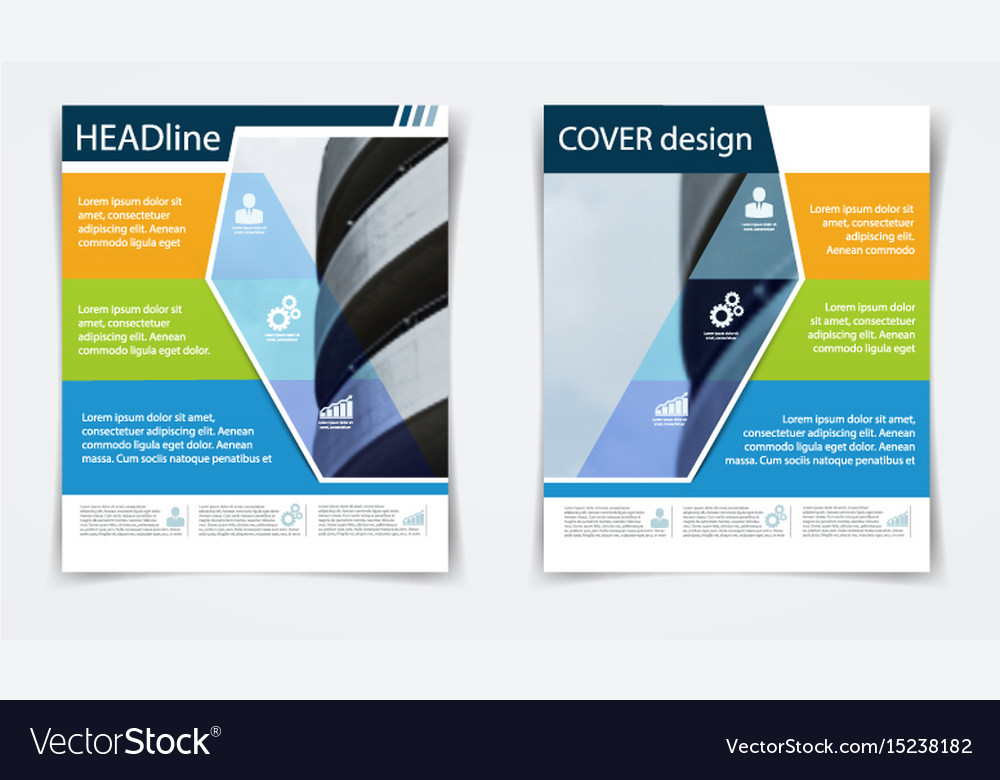 Brochure flyer template annual report abstract