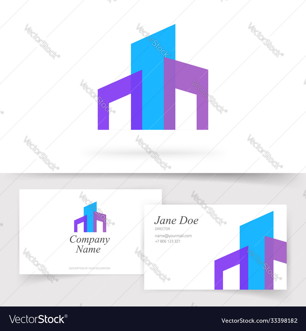 Building construction abstract logo