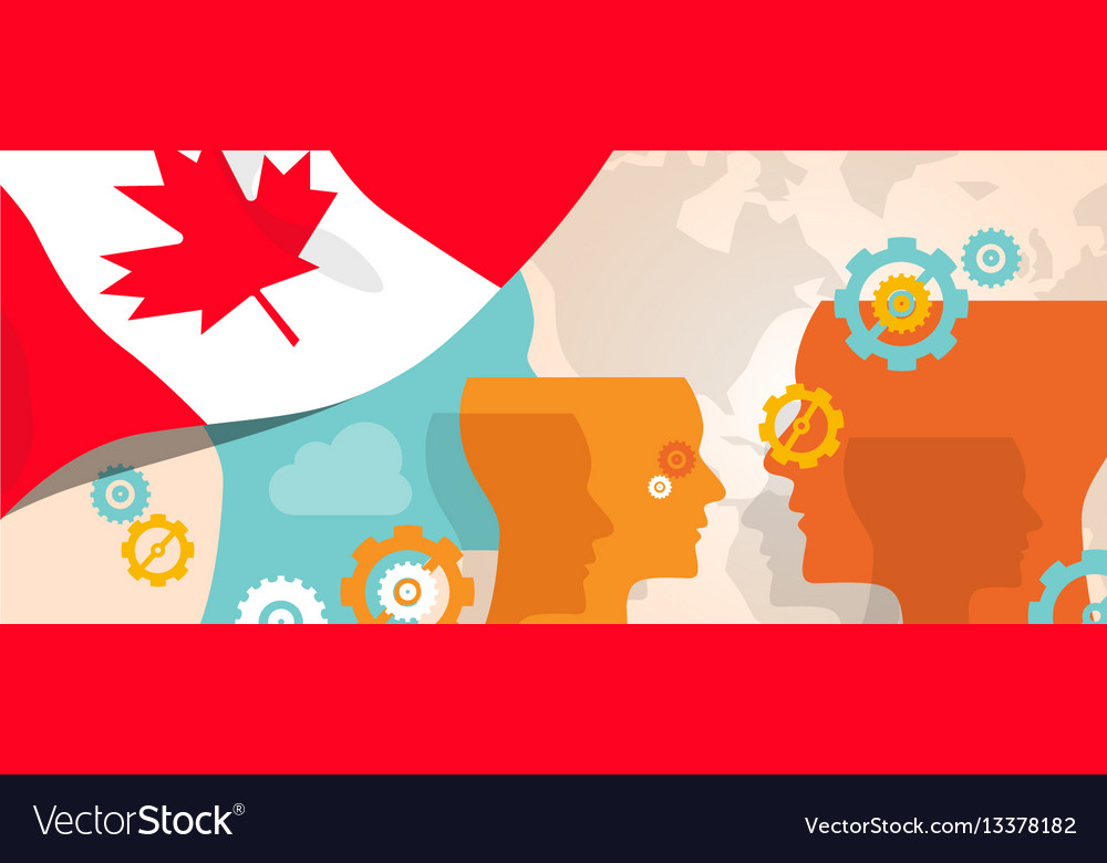 Canada concept of thinking growing innovation