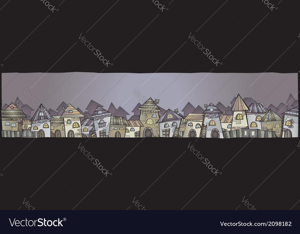 Cartoon construction town banner vector image