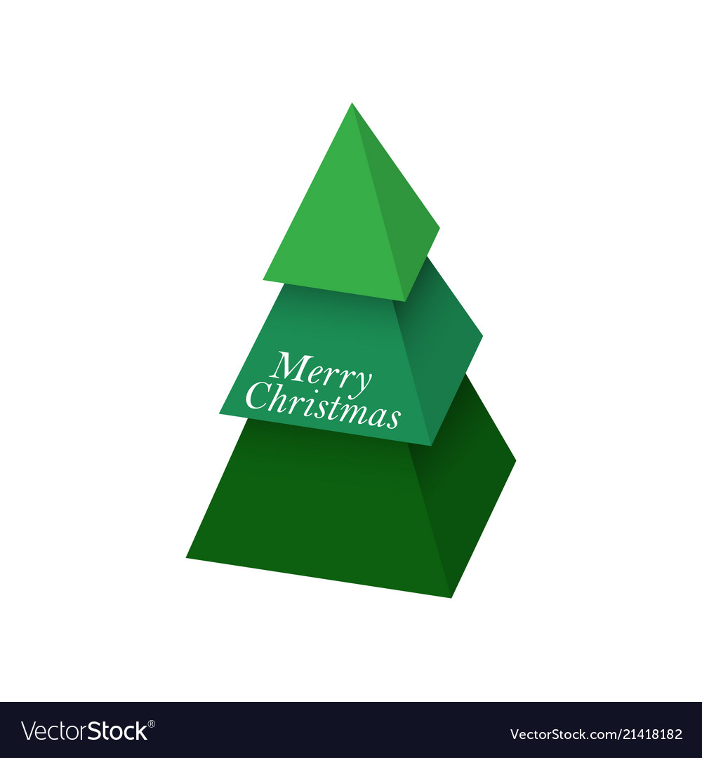 Christmas tree made of 3d green pyramids