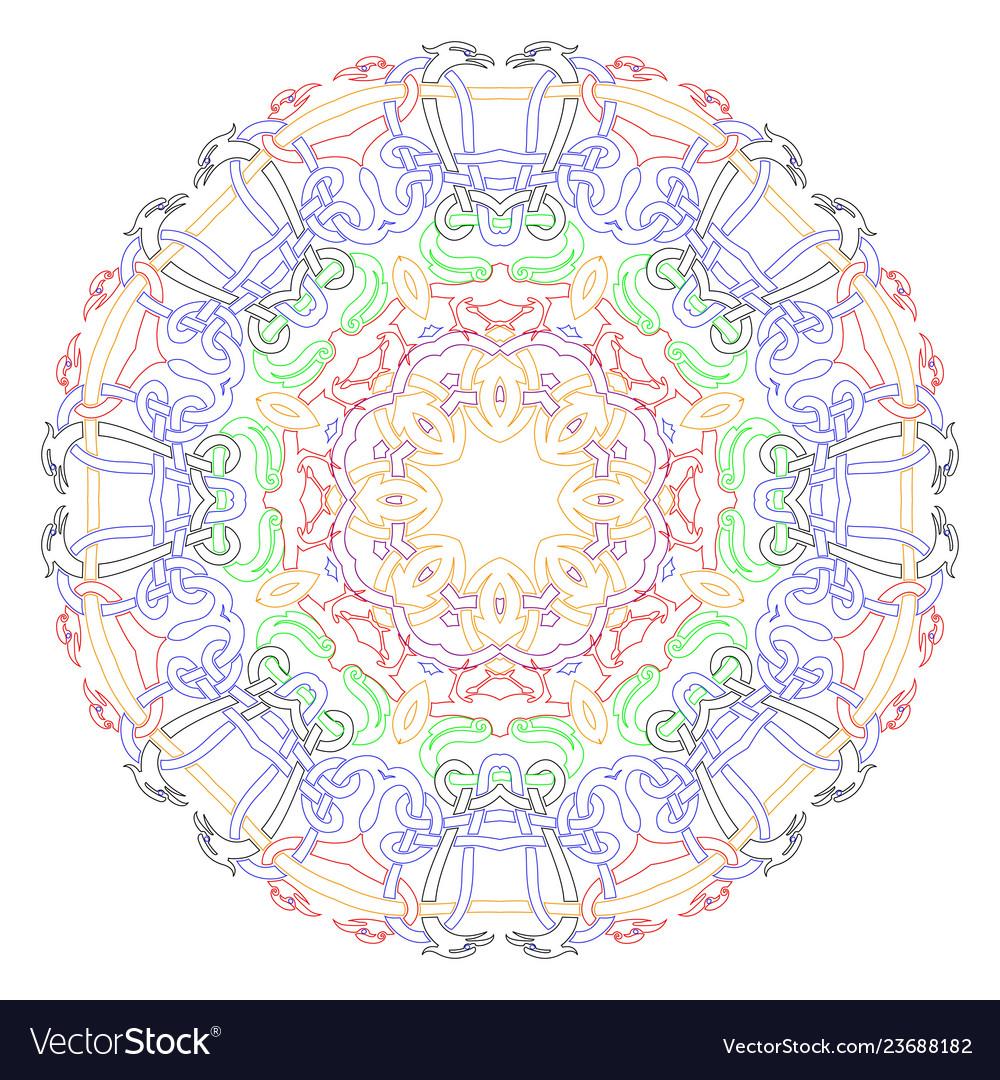 Decorative mandala good for coloring book for