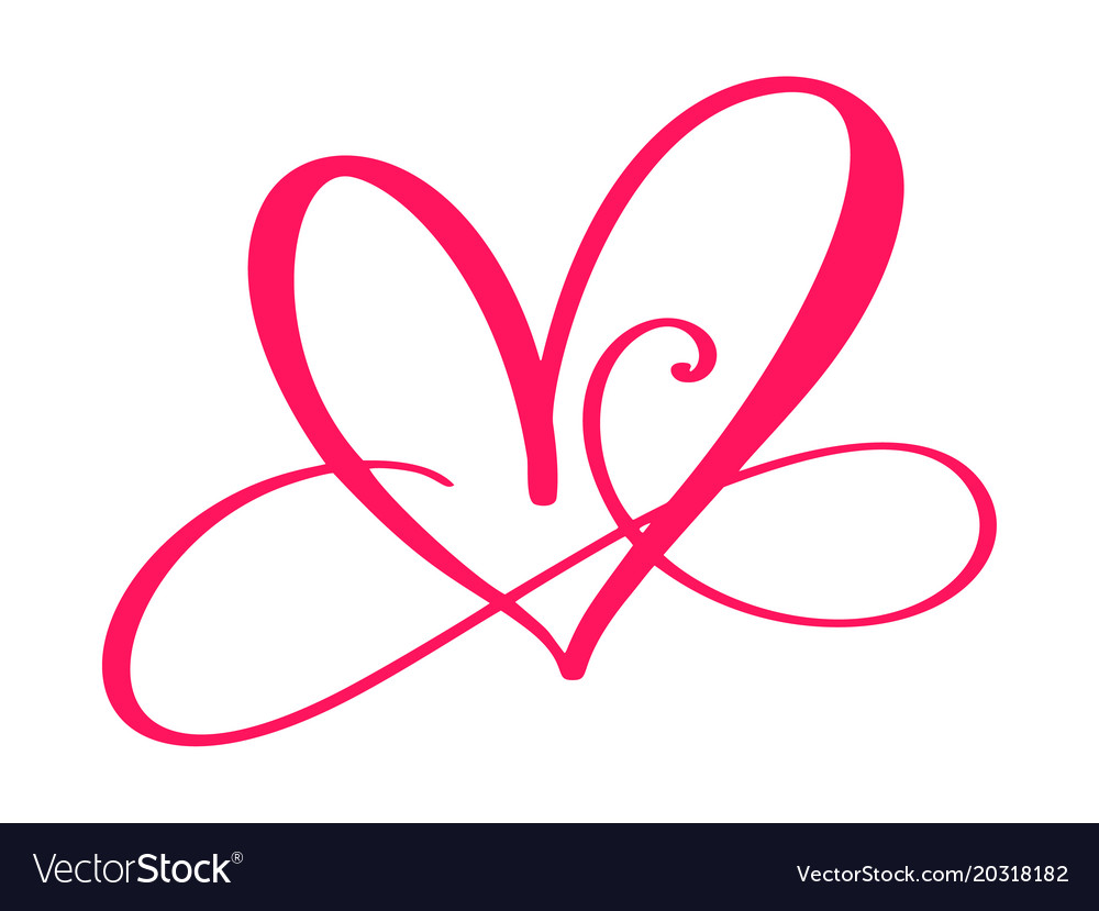 Heart Love Sign Forever Infinity Romantic Symbol Vector Image