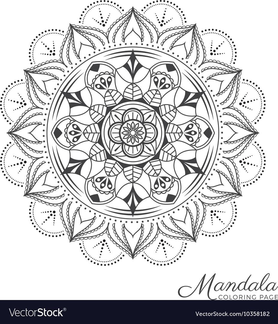 Mandala decorative ornament design