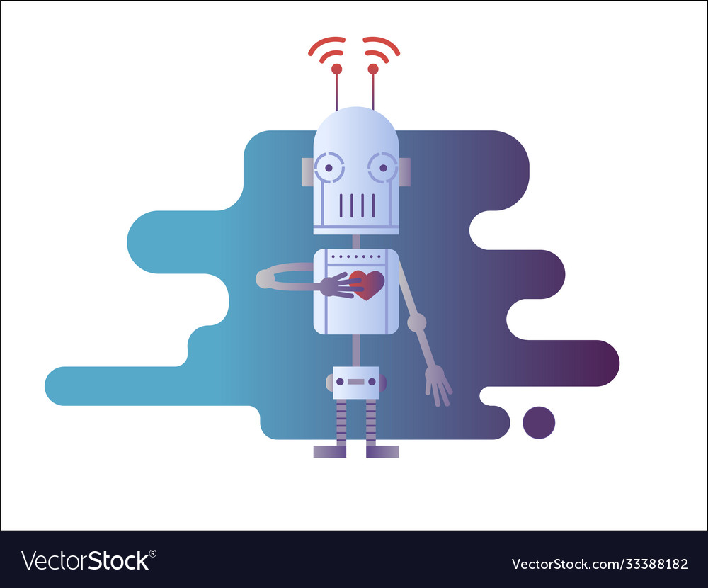 Robot isolated in white
