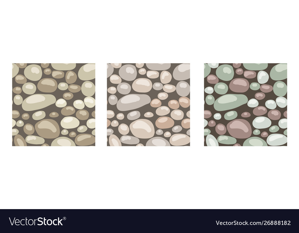 Stone texture set seamless patterns
