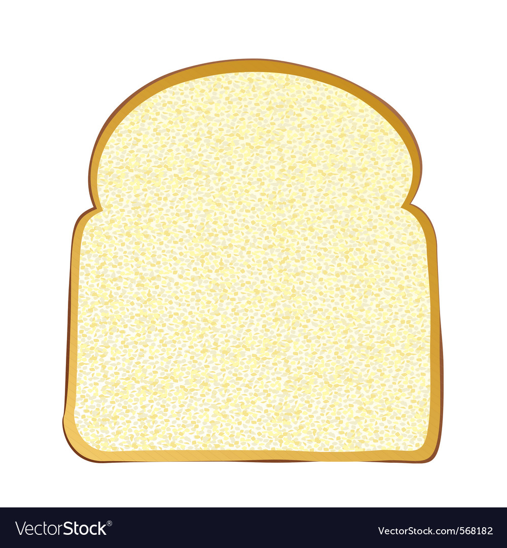 Wholemeal white bread vector image