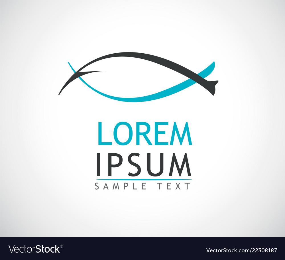 Fish logo design modern background