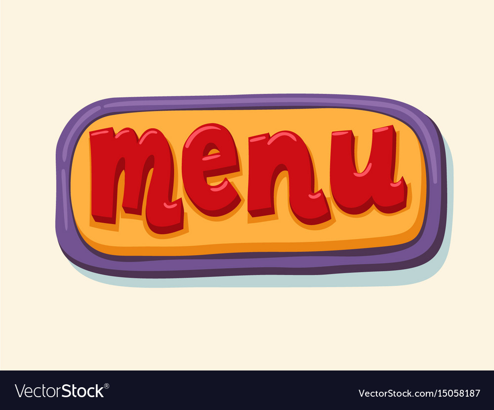 Hand drawn menu web button internet button vector image