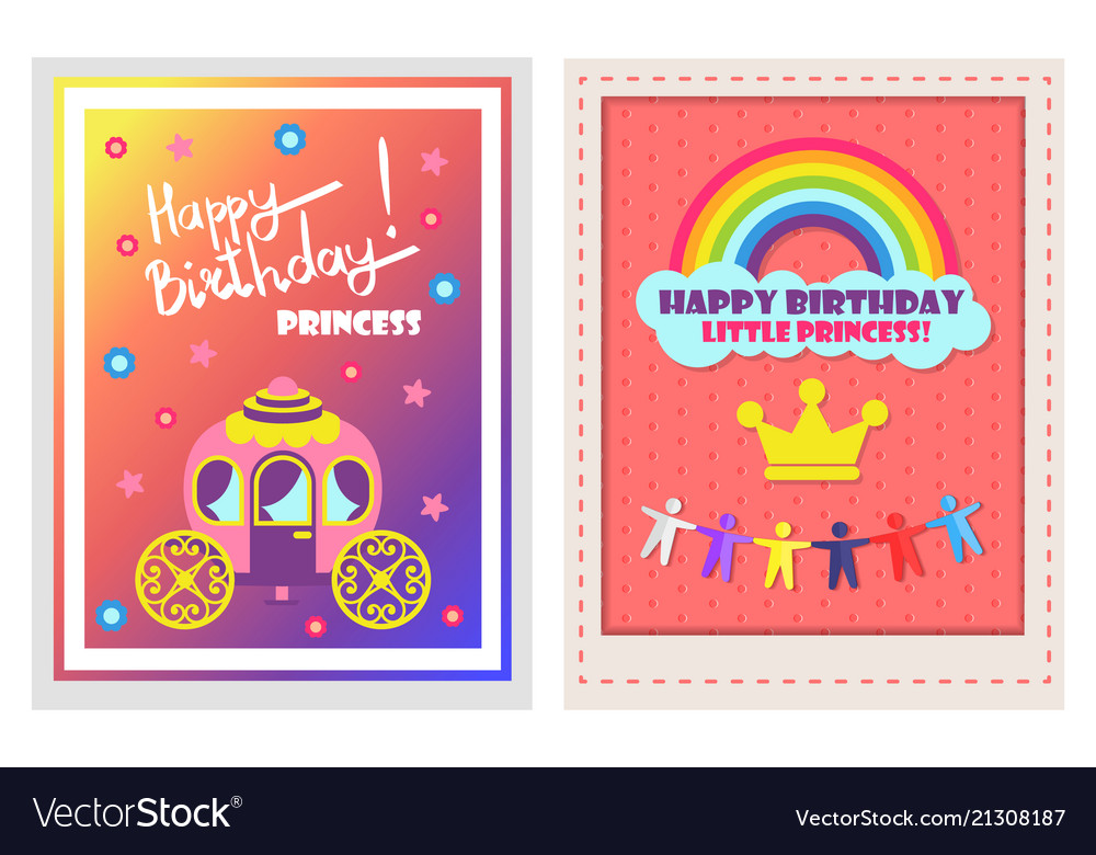 happy birthday posters set royalty free vector image