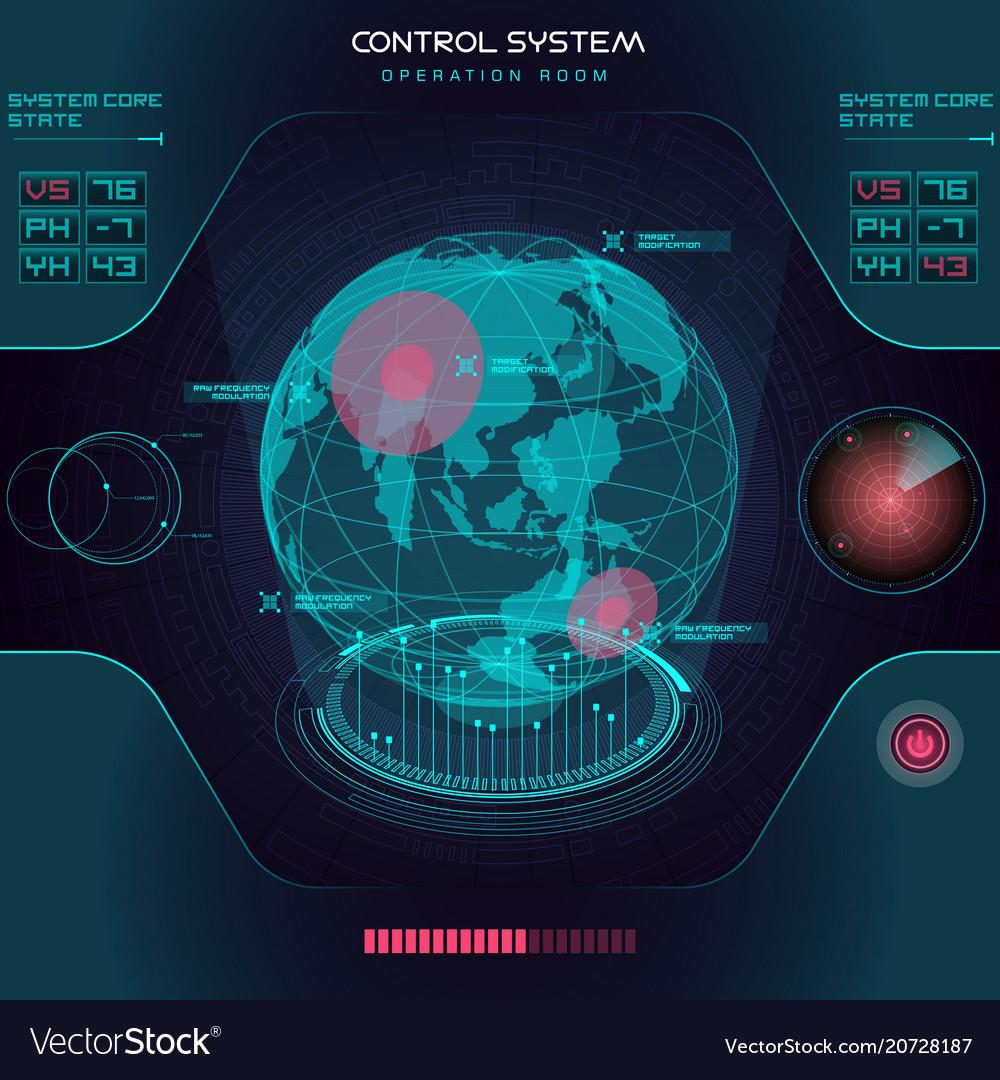 Interface ui design graphic hud