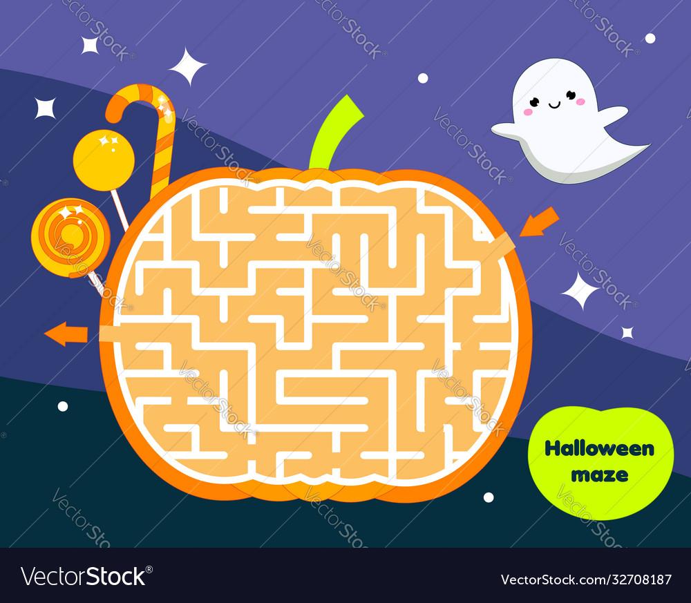 Maze game for children halloween theme kids