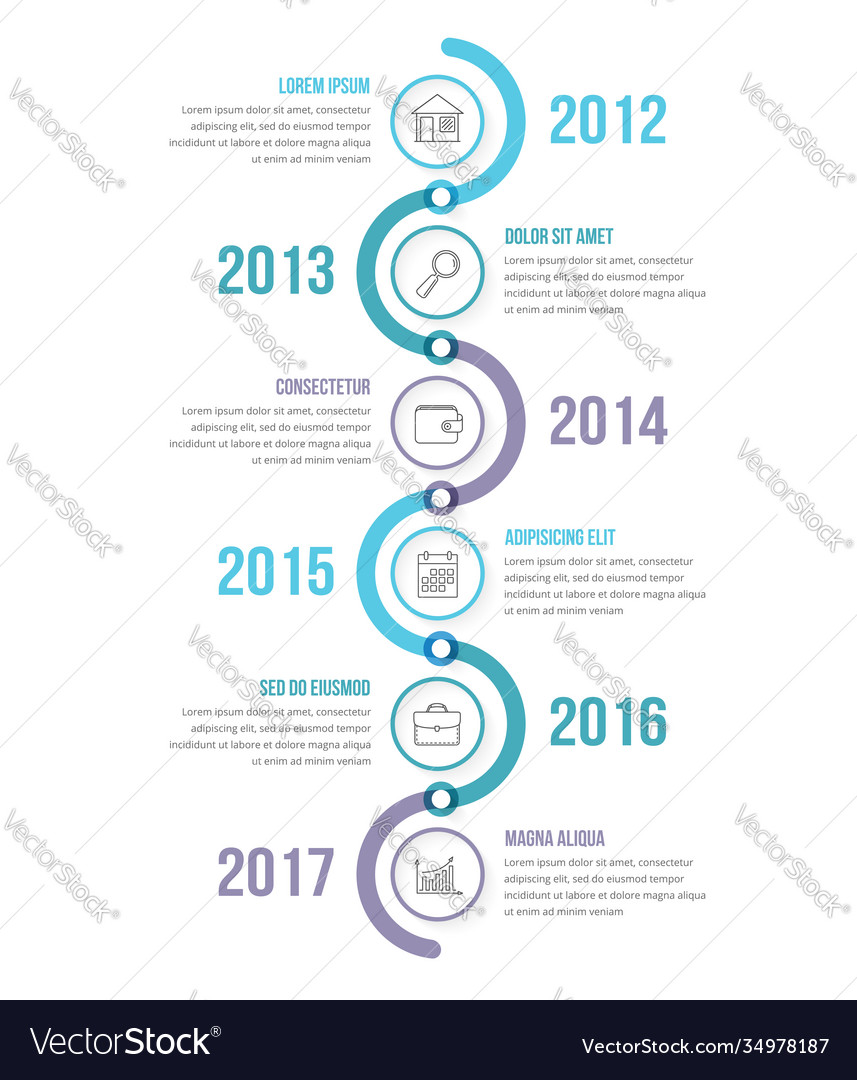 Vertical timeline infographics template