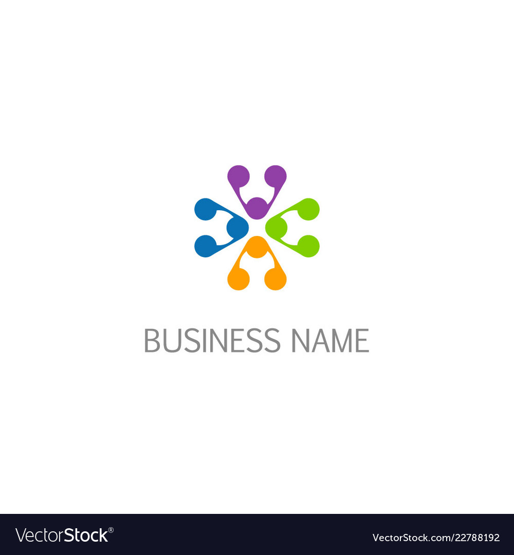 Abstract decoratif colored pattern logo